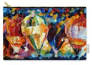 Balloon Parade - Palette Knife Oil Painting On Canvas By Leonid Afremov Carry-all Pouch