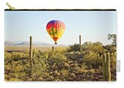 Balloon Ride Over The Desert Carry-all Pouch