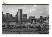 Baltimore Harbor Skyline Panorama Bw Carry-all Pouch