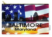 Baltimore Md Patriotic Large Cityscape Carry-all Pouch