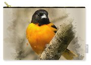 Baltimore Oriole Watercolor Art Carry-all Pouch