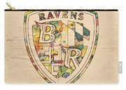 Baltimore Ravens Logo Art Carry-all Pouch