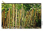 Bamboo Fencing Carry-all Pouch by Lilliana Mendez