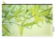Bamboo In The Sun Carry-all Pouch by Priska Wettstein