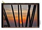 Bamboo Sunset - Black Frame Carry-all Pouch