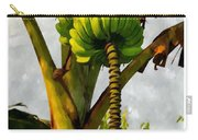 Banana Trees With Fruits And Flower In Lush Tropical Garden Carry-all Pouch