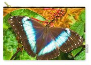 Banded Morpho Butterfly Carry-all Pouch