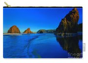 Bandon Blue And Gold Carry-all Pouch by Adam Jewell