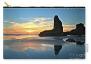 Bandon Oregon Sunset Carry-all Pouch by Adam Jewell