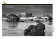 Bandon Sea Stacks Black And White Carry-all Pouch