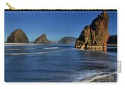Bandon Sea Stacks In The Surf Carry-all Pouch by Adam Jewell