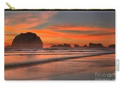 Bandon Sunset And Surf Carry-all Pouch