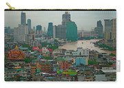 Bangkok Buildings And River From Grand China Princess Hotel In Bangkok-thail Carry-all Pouch