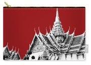 Bangkok Thailand Skyline Grand Palace - Dark Red Carry-all Pouch