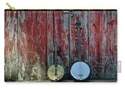 Banjos Against A Barn Door Carry-all Pouch