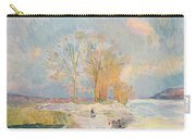 Banks Of The Seine And Vernon In Winter Carry-all Pouch by Albert Charles Lebourg