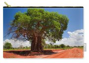 Baobab Tree On Red Soil Road Carry-all Pouch