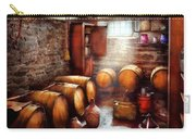 Bar - Wine - The Wine Cellar  Carry-all Pouch by Mike Savad