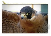 Barbary Falcon Wings Stretched Carry-all Pouch
