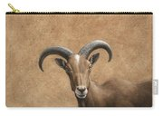 Barbary Ram Carry-all Pouch by James W Johnson