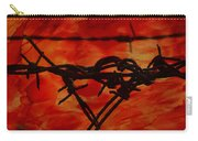 Barbed Wire Love Series  Rage Carry-all Pouch