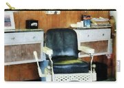 Barber - Barber Shop One Chair Carry-all Pouch by Susan Savad