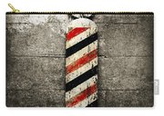 Barber Pole Selective Color Carry-all Pouch