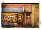 Barber - Towne Barber Shop Carry-all Pouch by Mike Savad