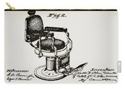Barbershop Chair Patent Carry-all Pouch