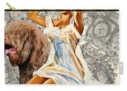 Barbet Art - Una Parisienne Movie Poster Carry-all Pouch by Sandra Sij