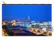 Barcelona And Its Skyline At Night Carry-all Pouch