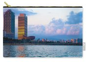 Barcelona Skyline From Sea Carry-all Pouch