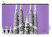 Barcelona Skyline La Sagrada Familia - Violet Carry-all Pouch