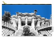 Barcelona Skyline Park Guell - Blue Carry-all Pouch