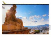 Barcelona View From Catalunya National Museum Of Art Carry-all Pouch