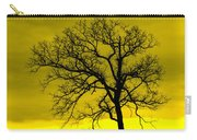 Bare Tree Against Yellow Background E88 Carry-all Pouch