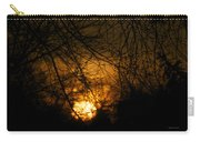 Bare Tree Branches With Winter Sunrise Carry-all Pouch