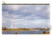 Barges On River Rhine At Duisburg Germany Europe Carry-all Pouch