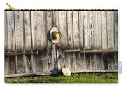 Barn Door And Banjo Mandolin Carry-all Pouch by Bill Cannon