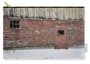 Barn Door In Winter Carry-all Pouch