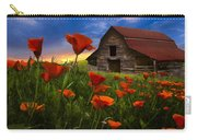 Barn In Poppies Carry-all Pouch by Debra and Dave Vanderlaan