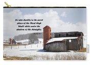 Barn In Winter With Psalm Scripture Carry-all Pouch