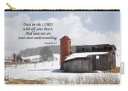 Barn In Winter With Scripture Carry-all Pouch