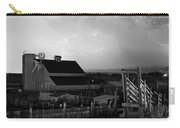 Barn On The Farm And Lightning Thunderstorm Bw Carry-all Pouch by James BO  Insogna