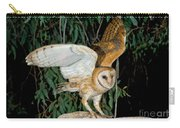 Barn Owl Alights Carry-all Pouch