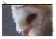 Barn Owl Painterly Carry-all Pouch