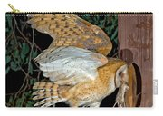 Barn Owl With Prey Carry-all Pouch