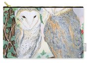 Barn Owls Carry-all Pouch by Suzanne Bailey
