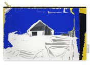 Barn Snow Storm Rc Guss Photo 1951 Collage St. Paul Park Minnesota Color Drawing Added Carry-all Pouch