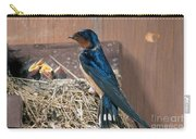 Barn Swallow At Nest Carry-all Pouch